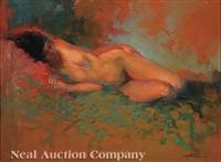 reclining nude by lynn gertenbach