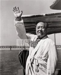chairman mao swimming in the yangtze river by qian sijie