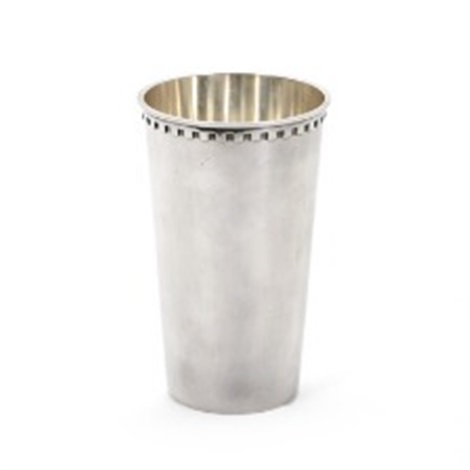 A Sterling Silver Vase The Upper Rim With Jagged Pattern By Sigvard