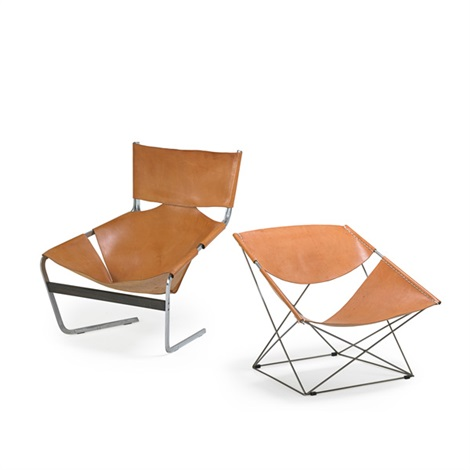 lounge chair no 444 and butterfly chair no 675 by pierre paulin on
