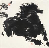 奔马图 镜心 纸本 by jia haoyi