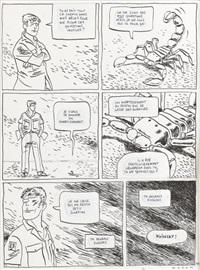 scorpions du désert, planche 11 (from tome 4 le chemin de fièvre) by pierre wazem