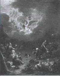 engel rufen die hirten zur anbetung des kindes by hendrik carre