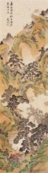 携琴访友 立轴 纸本 by wen zhengming