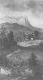 partenkirchen mit zugspitze by carl bollermann
