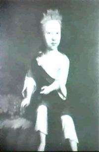 portrait of a child, possibly miss barker of york by willem verelst