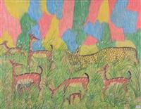 léopard chassant des antilopes by mulongoy pili pili