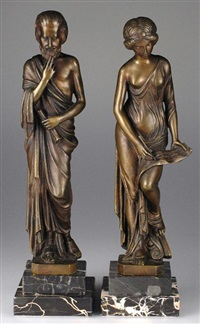 ancient figures (pair) by ernst beck