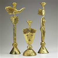 candlesticks (3 works) by pierre casenove