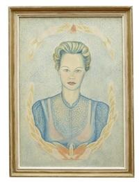 kvinnoporträtt by max walter svanberg