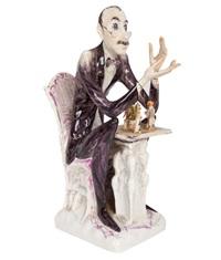 porzellanfigur 'der sammler by peter strang