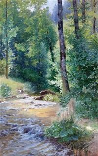 rivière en sous-bois by k. rorn