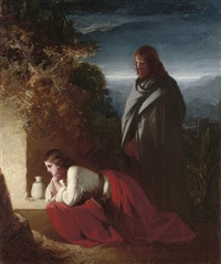 mary magdalen at the sepulchre by henry lejeune