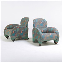 pair of lounge chairs by de sede