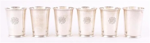 julep cups set of 6 by fisher silversmiths co