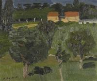 paysage à la chapelle sur carouge by alexandre rochat