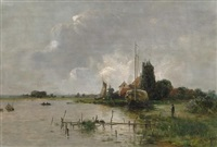 sommertag an der havel by franz bunke