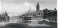parti fra canal grande i venedig by j.w. jarkowsky