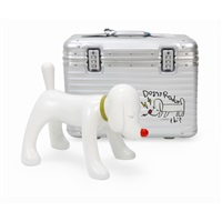 doggy radio × rimowa suitcase limited box set by yoshitomo nara
