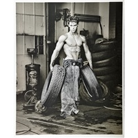 fred with tires (2 works) by herb ritts
