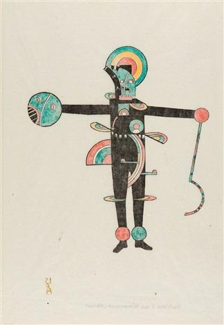 farbform i aus dem bühnenwerk mann by lothar schreyer