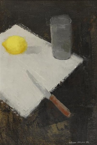 still life with lemon by william m littlejohn