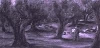 sparziergänger in einem kiefernhain by erich klossowski