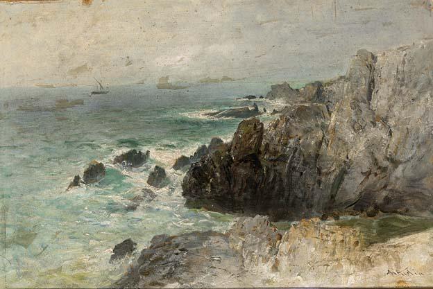 coastal landscape breton by nicolai von astudin