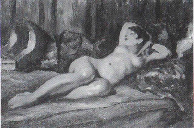 liegender weiblicher akt by rené pierre louis besserve