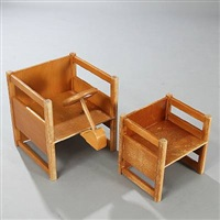 two childrens chairs by kay bojesen and magnus l. stephensen