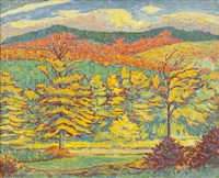 herbstlandschaft by alfred hermann helberger