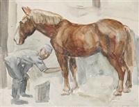 pferdewäsche by friedrich-georg lehmann