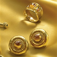a ring and pair of earclips (set of 2) by elizabeth locke