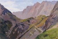 berghütte in den hochalpen by paul leuteritz