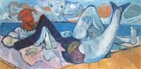 fischer mit meerjungfrau by karl kriete