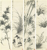 orchids and bamboos by xia hui