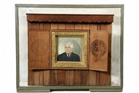 portrait of supreme court chief justice earl warren by vivian milner akers
