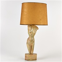 figural table lamp, usa by yascha heifetz