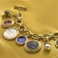 a charm bracelet by elizabeth locke