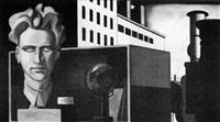 gipshuvud med stadsbild by erik wessel-fougstedt