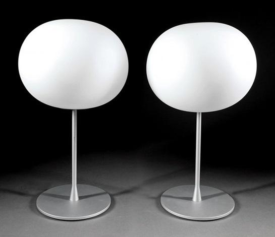 Glo Ball T 1 Glass And Steel Table Lamps By Jasper Morrison On Artnet