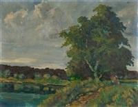 marschlandschaft (hammerbrook) by arthur illies