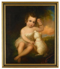 portrait of a young child with dog by robert street