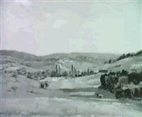 hugelige landschaft by ludwig bolgiano