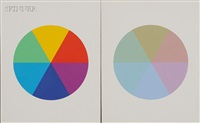 hue 16, hue 21, six part hue circle, and six part hue cirlce (sic) by robert swain