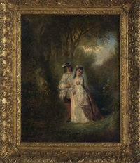 courting couple by henry andrews