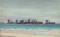 the scarborough fishing fleet by ernest dade