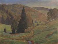 sommertag im schwarzwald by ferdinand otto leiber