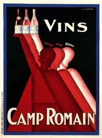 vins camp romain (poster) by claude gadoud
