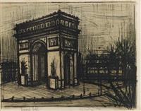paris. l'arc de triomphe by bernard buffet